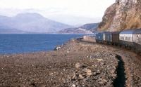 A spring 1971 view from a Kyle-Inverness train skirting Loch Carron.<br><br>[Frank Spaven Collection (Courtesy David Spaven)&nbsp;//1971]
