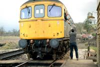 Token exchange at Crediton in 1985.<br><br>[Ian Dinmore&nbsp;/03/1985]
