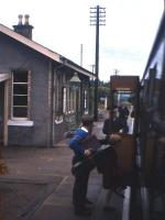 A DMU at Torphins station on the Deeside line in 1965. View is east towards Aberdeen. <br><br>[Frank Spaven Collection (Courtesy David Spaven)&nbsp;//1965]