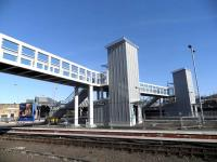 The new accessible footbridge at Perth, nearing completion on 25 February 2013.<br><br>[John Yellowlees&nbsp;25/02/2013]
