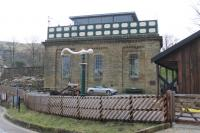 <I>Transformation completed</I>. The conversion of the Settle station water tower into a luxury home has now been finished and is a credit to the owner. [See image 31812], taken just over two years earlier, to see the scale of the changes this restoration has made.  <br><br>[Mark Bartlett&nbsp;25/02/2013]