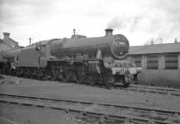 Jubilee 45562 <I>Alberta</I> stands in the shed yard at Holbeck in May 1963.<br><br>[K A Gray&nbsp;04/05/1963]