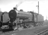 J38 0-6-0 no 65914 photographed on its home shed at Thornton Junction in the summer of 1966. The locomotive was withdrawn from here some 3 months later and cut up at Arnott Young, Old Kilpatrick, in mid 1967.<br><br>[K A Gray&nbsp;//1966]