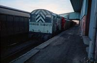 One of Deanside Transit's Class 08s beside the transit sheds  in 1987.<br><br>[Ewan Crawford&nbsp;20/05/1987]