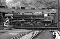 Just after 10:30 on 5th September 1974 DB 3 cylinder 2-10-0 No. 044 592 has emerged from the roundhouse at Betzdorf and will take a freight out of the adjacent marshalling yard, which was located on the main line between K�ln and Siegen.<br><br>[Bill Jamieson&nbsp;05/09/1974]