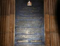 The memorial plaque to the life and work of Sir Nigel Gresley 1876 - 1941, Waverley station.<br><br>[Brian Taylor&nbsp;/03/2013]