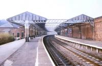 Looking north through Hartlepool station in May 1990.<br><br>[Ian Dinmore&nbsp;16/05/1990]