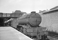 Gresley V2 2-6-2 no 60902 stands at Doncaster station on 20 July 1963 shortly after arriving with the 1.50pm from Leeds Central.<br><br>[K A Gray&nbsp;20/07/1963]