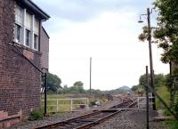 View east towards Falkirk from alongside the now demolished Greenhill Junction signal box (located at Greenhill Upper Junction) in 1990.<br><br>[Ewan Crawford&nbsp;//1990]