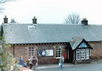 Last day at Kilmacolm. Station frontage on 10 January 1983 [see image 37159]. <br><br>[Colin Miller&nbsp;10/01/1983]