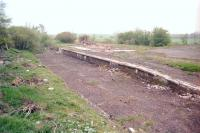 Remains at Newhouse looking south on 3 May 1997. Passenger services on the route from Airdrie (Caledonian) ceased in 1930 although the line remained open for freight until 1966.<br><br>[Ewan Crawford&nbsp;03/05/1997]