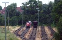 A DB shunting locomotive waiting to start its days work in the goods yard at Lubeck in July 2010.<br><br>[John Steven&nbsp;/07/2010]