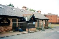 Another view showing conversion of the former Kilmacolm station building in August 1998 [see image 42381].<br><br>[Colin Miller&nbsp;17/08/1998]