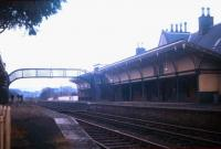 The slow deterioration of Melrose station underway in Spring 1971 - with track still in place but the station buildings abandoned. [See image 26778]<br><br>[David Spaven&nbsp;//1971]