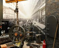 Past and present seem to merge through some clever use of old photographs as a backdrop to exhibits at Swindon Steam Museum in March 2013.<br><br>[Peter Todd&nbsp;20/03/2013]
