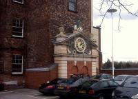 This clock was one of the more attractive parts of the now-demolished second Derby station. Fortunately, they saw fit to relocate it to the far end of the car park. [see image 42250]<br><br>[Ken Strachan&nbsp;21/02/2013]