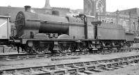 An undated photograph showing Fowler 4F 0-6-0 no 44143 against the unmistakable backdrop of 14B Kentish Town shed. The locomotive was reallocated to Saltley in late 1958 and was finally withdrawn from there in October 1962.<br><br>[K A Gray&nbsp;//]