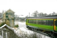 Snow scene alongside the disused signal box at Wroxham on a cold January day in 2006.<br><br>[Ian Dinmore&nbsp;/01/2006]