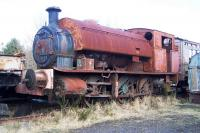A derelict saddle tank in the sidings alongside Marley Hill shed on 30 March 2013.<br><br>[Colin Alexander&nbsp;30/03/2013]