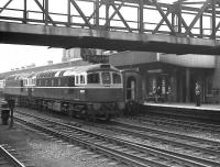 BRCW Class 33s D6577+D6551 run south through Doncaster on the centre road in July 1962. Both locomotives were allocated to 73C Hither Green, having been delivered there new the previous year.<br><br>[K A Gray&nbsp;28/07/1962]