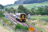 A southbound train on the far north line leaves Rogart for Inverness on 25 August 2007. [See image 42689]  <br><br>[John Furnevel&nbsp;25/08/2007]