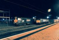 Waiting the next job. A pair of DRS Class 20s and a solo DRS Class 47 stabled in the sidings on the west side of York station on the evening of 3 April 2013.<br><br>[John McIntyre&nbsp;03/04/2013]