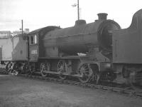 J38 0-6-0 no 65912, carrying a 62C Dunfermline shedplate, photographed at Eastfield in the summer of 1966.<br><br>[K A Gray&nbsp;//1966]