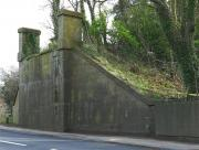 The southern abutment of the MDLR bridge over the A77 just south of Turnberry Station in 2010. [See image 42784] <br><br>[Colin Miller&nbsp;09/04/2010]