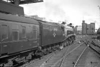 60024 <I>Kingfisher</I> takes an Edinburgh bound train out of Newcastle Central in the 1960s.<br><br>[K A Gray&nbsp;//]