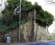 The northern abutment of the MDLR bridge over the A77 just south of Turnberry Station in 2010. [See image 42756] <br><br>[Colin Miller&nbsp;09/04/2010]