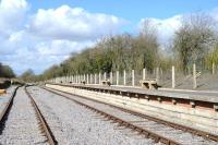 The new station at Taw Valley Halt on the Swindon And Cricklade Railway on 20 April 2013. The grand opening ceremony is planned for June.<br><br>[Peter Todd&nbsp;20/04/2013]