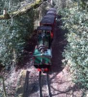 If you go down to the woods today, you're in for a small surprise. Not a class 14 'teddy bear' diesel, but a 15-inch-gauge Beyer Garrett. Taken looking towards Heywood station - though not the East Lancs version.<br><br>[Ken Strachan&nbsp;31/03/2013]