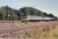 A Barnstaple - Exeter line DMU at Yeoford the 1980s.<br><br>[Ian Dinmore&nbsp;//]