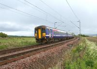 156450 is the rear unit on a Glasgow bound service off the West Highland Line passing Brooks Farm level crossing near Ardmore East on 28 May 2010.<br><br>[John McIntyre&nbsp;28/05/2010]