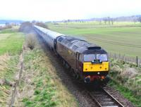 Passing Evanton on 26 April, <I>The Royal Scotsman</I> heading for Brora hauled by WCRC Class 47 no 47804.<br><br>[John Gray&nbsp;26/04/2013]