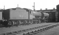 One of Thornton Junction's J38s, no 65922, stabled in the shed yard in the summer of 1966. The 0-6-0 was withdrawn from here in October that year. <br><br>[K A Gray&nbsp;//1966]