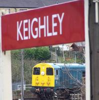 20020 at Keighley on 28 April during the KWVR Diesel Gala Weekend.<br><br>[Colin Alexander&nbsp;28/04/2013]