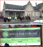 On 3 May 2013 a new Cycle Hub was opened by Transport Minister Keith Brown in the former parcels office at Stirling station. The project is funded by Transport Scotland with ScotRail and managed by Forth Environment Link.<br><br>[John Yellowlees&nbsp;03/05/2013]