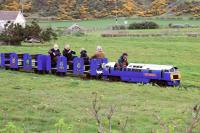 The miniature railway from Ayr seafront is reborn at Craigiemains Garden Centre. May 2013. [See image 30720]<br> <br><br>[Colin Miller&nbsp;05/05/2013]