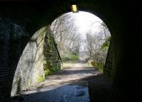 Looking out from the east portal of Old Woodhouselee Tunnel, Auchendinny, on 20 April 2013. View towards Firth Viaduct in the middle distance.<br><br>[John Furnevel 20/04/2013]