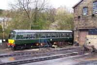 DMU SC51803 stands in the yard at Haworth on 27 April 2013.<br><br>[Colin Alexander&nbsp;27/04/2013]