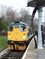 A gleaming 26038 alongside the water tower at Oxenhope on 28 April.<br><br>[Colin Alexander&nbsp;28/04/2013]