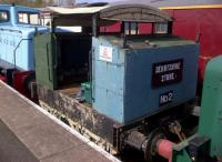 'Derbyshire Stone No.2', on display at the Chaswater Railway, is definitely smaller than the average shunting engine; and definitely not luxurious. If Monty Python's Three Yorkshiremen were train drivers, I'm sure they would include this in their improbable progressive decline in working conditions!<br><br>[Ken Strachan&nbsp;05/05/2013]