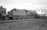 Black 5 no 44751 photographed on Speke Junction shed (8C) in April 1963. The locomotive was officially withdrawn from here in September 1964. <br><br>[K A Gray&nbsp;02/04/1963]
