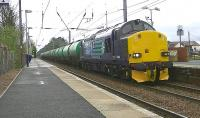 DRS 37606 runs through Barassie on 10 May with the 6R46 Grangemouth - Prestwick Airport tanks. (The locomotive was deputising for failed Colas Rail 66847.)<br><br>[Ken Browne&nbsp;10/05/2013]