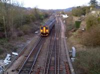 A class 150 Sprinter turns off the London bound Great Western main line at Bathampton Junction on 30 March to head for Weymouth. See image [[42821]]<br><br>[Ken Strachan 30/03/2013]