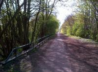 A nice bit of light and shade travelling downhill on the Sewell Greenway towards Stanbridgeford [see image 43001] and Leighton Buzzard. This line had a 'dinner plate profile' - steep at each end, level in the middle.<br><br>[Ken Strachan&nbsp;03/05/2013]