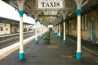 View along the westbound platform at Hexham in May 2006.<br><br>[John Furnevel&nbsp;07/05/2006]