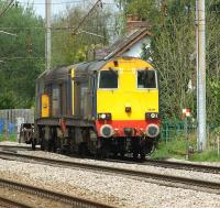 A pair of DRS class 20s head south on the WCML at Euxton with a single 4 wheel wagon on a move from Sellafield to Crewe on 11 May 2013.<br><br>[John McIntyre&nbsp;11/05/2013]