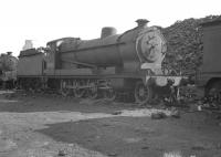 Class O4 2-8-0 no 63584 on Ardsley shed in September 1962, a month after official withdrawal by BR.<br><br>[K A Gray&nbsp;08/09/1962]